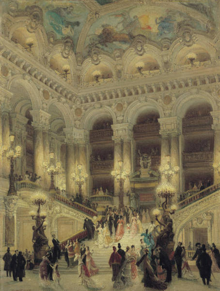 Wall Art - Painting - The Staircase Of The Opera by Louis Beroud