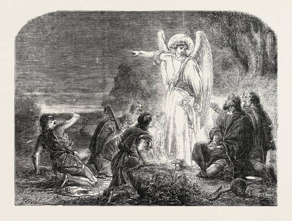 First Star Drawing - The Star In The East The First Christmas Morning by English School