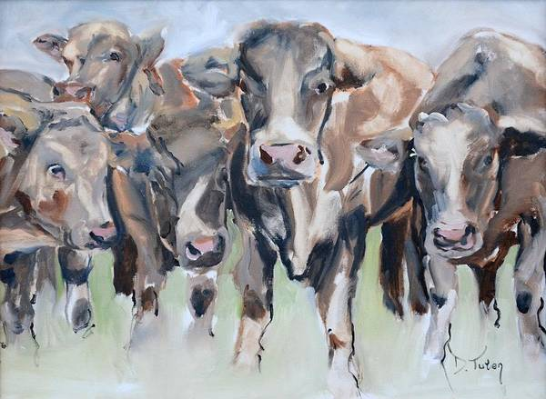 Painting - The Stare Down by Donna Tuten