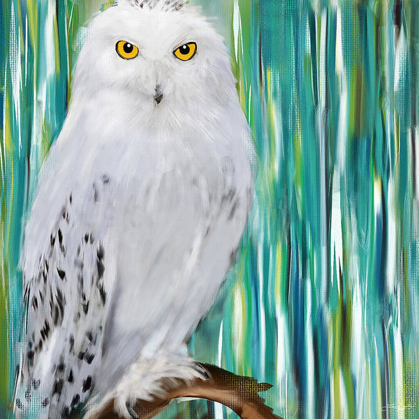 Barn Owl Painting - The Stare by Lourry Legarde