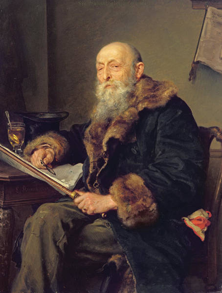 Governor Photograph - The Starost, 1887 Oil On Panel by Ludwig Knaus
