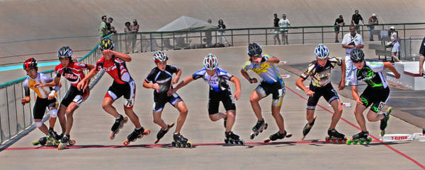Roller Blades Photograph - The Start by Mike Flynn