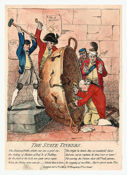 Feb Wall Art - Drawing - The State Tinkers by Gillray, James (1756 Or 1757-1815), British