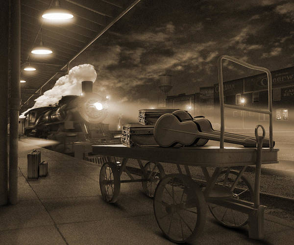Steam Locomotives Photograph - The Station 2 by Mike McGlothlen