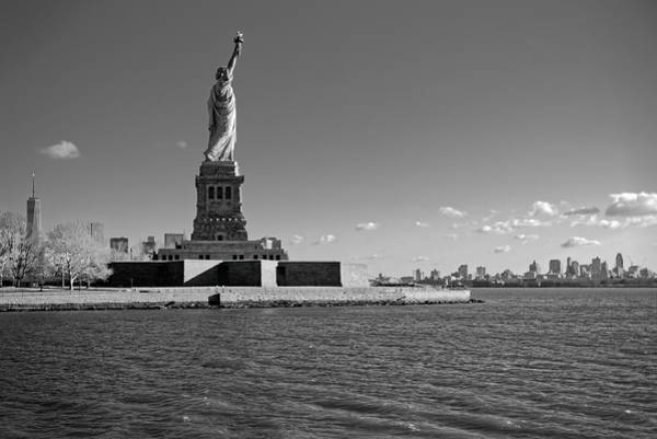 Statue Of Liberty And Freedom Tower Art Print