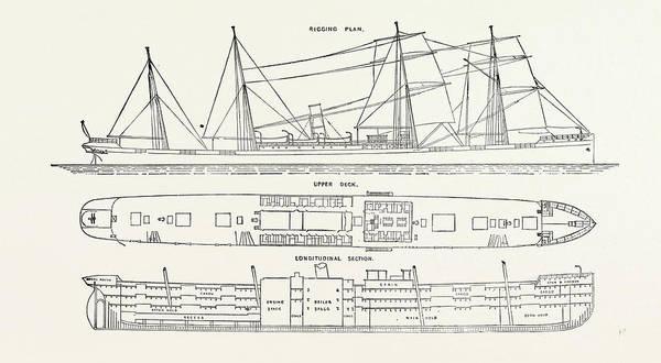 Steel Drawing - The Steel Steamer Merton Hall by English School