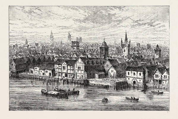 Steel Drawing - The Steel Yard And Neighbourhood In 1540 by Litz Collection