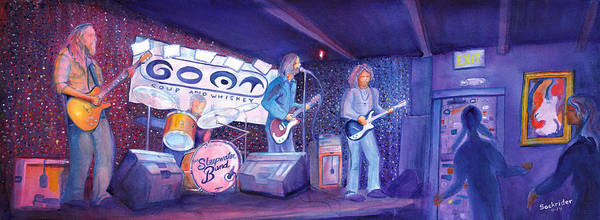 Painting - The Steepwater Band by David Sockrider