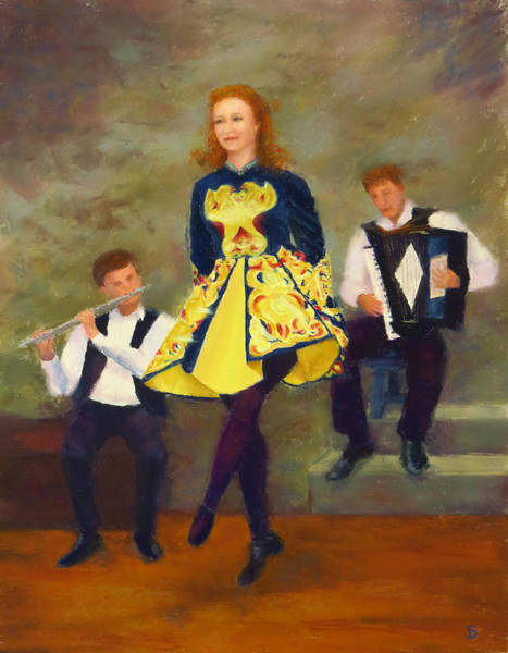 Irish Dance Painting - The Stepdancer by Stacey David
