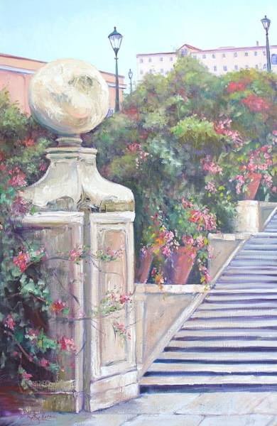 Painting - The Steps In Colour by Kathy  Karas