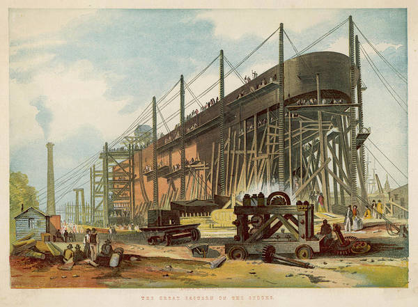 Wall Art - Drawing - The Stern View Of The Great  Eastern by  Illustrated London News Ltd/Mar