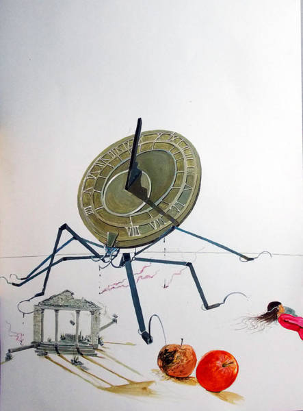 Wall Art - Painting - The Sting Of Time by Lazaro Hurtado