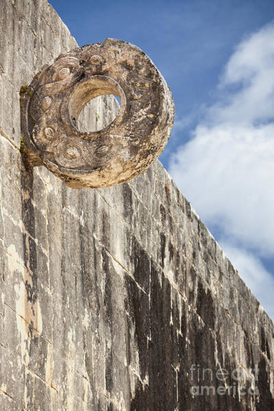 The Stone Ring At The Great Mayan Ball Court Of Chichen Itza Art Print