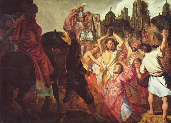 Painting - The Stoning Of St Stephen  by Celestial Images