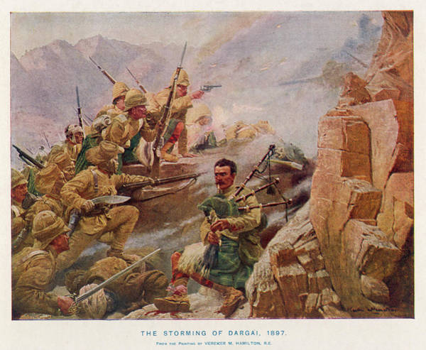 Wall Art - Drawing - The Storming Of Dargai The Gordon by Mary Evans Picture Library