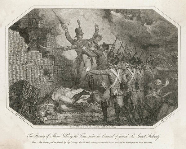 Montevideo Wall Art - Drawing - The Storming Of Montevideo by Mary Evans Picture Library