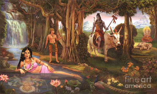 Painting - The Story Of Ganesha by Vishnudas Art