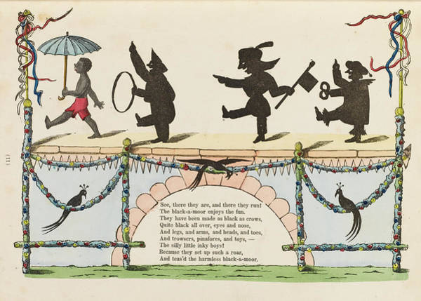 Wall Art - Drawing - The Story Of The Inky Boys  The White by Mary Evans Picture Library