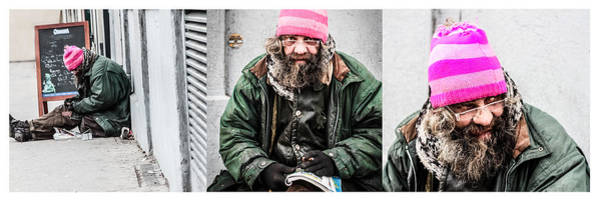People Wall Art - Photograph - The Story Of The Pink Hat Vagabond Guy by Stwayne Keubrick