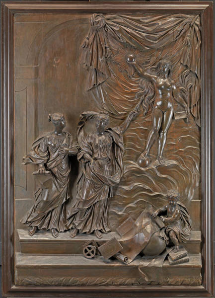 1715 Drawing - The Stowe Reliefs Allegorical Scene, Possibly Truth by Litz Collection