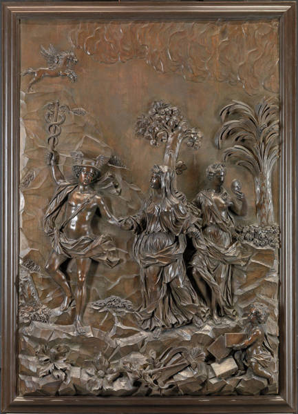 1715 Drawing - The Stowe Reliefs Mercury Conducting Tragic And Comic by Litz Collection