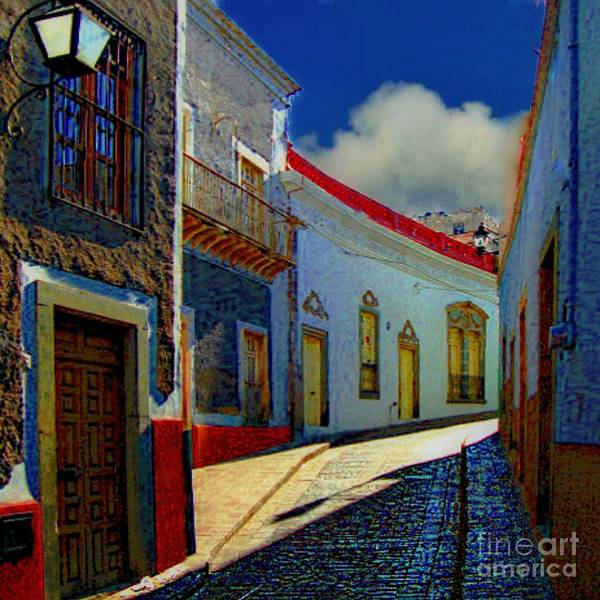 Photograph - The Street To Diego Rivera's Parents House by John  Kolenberg