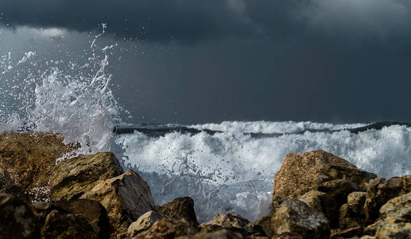 Photograph - The Strength Of The Sea by Michael Goyberg