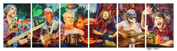 Wall Art - Painting - The String Cheese Incident At Horning's Hideout by Joshua Morton