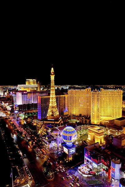 Wall Art - Photograph - The Strip At Night, Las Vegas, Nevada by Cultura Rm Exclusive/photostock-israel