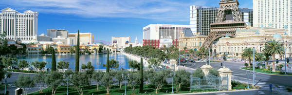 Bellagio Hotel Photograph - The Strip Las Vegas Nv by Panoramic Images