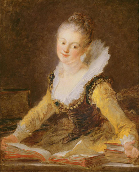 Turning Painting - The Study, Or The Song by Jean-Honore Fragonard