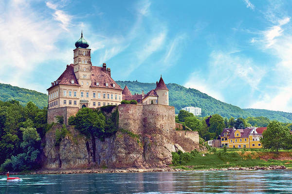 Wall Art - Photograph - The Stunning Schonbuhel Castle Sits by Miva Stock