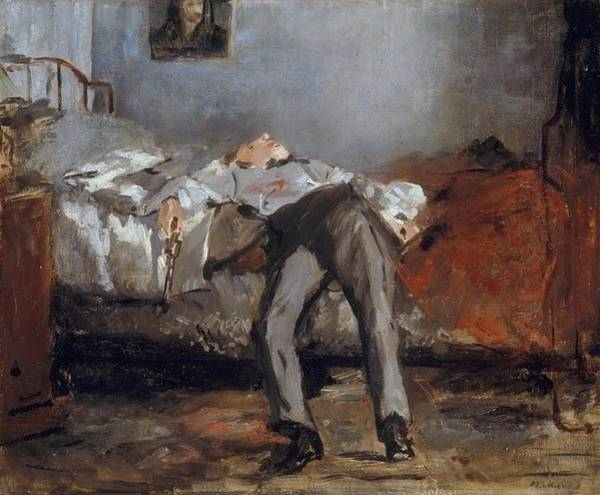 Wall Art - Painting - The Suicide by Edouard Manet