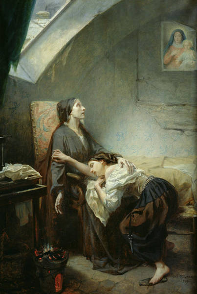 Skylights Wall Art - Painting - The Suicide by Octave Tassaert