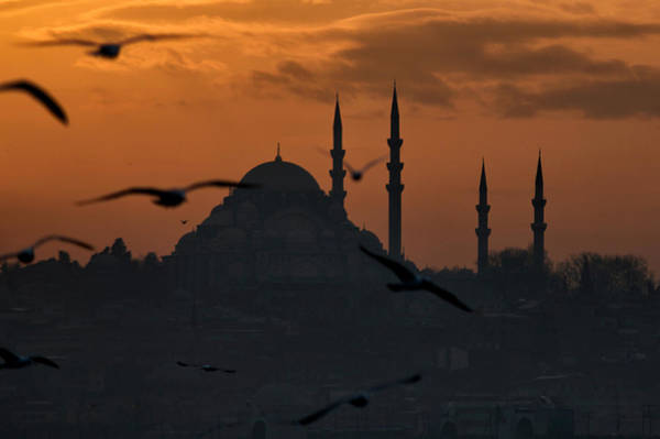Wall Art - Photograph - The Suleymaniye Mosque At Sunset by Ayhan Altun