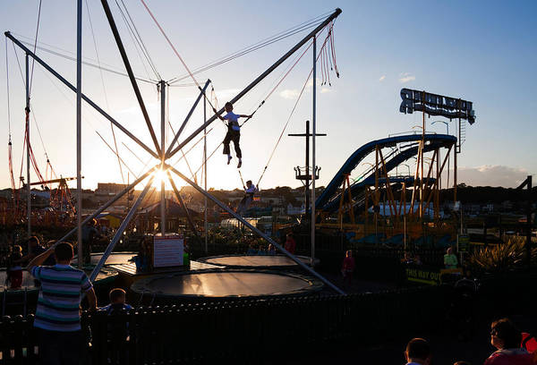 County Waterford Photograph - The Summer Fairground, Tramore, County by Panoramic Images
