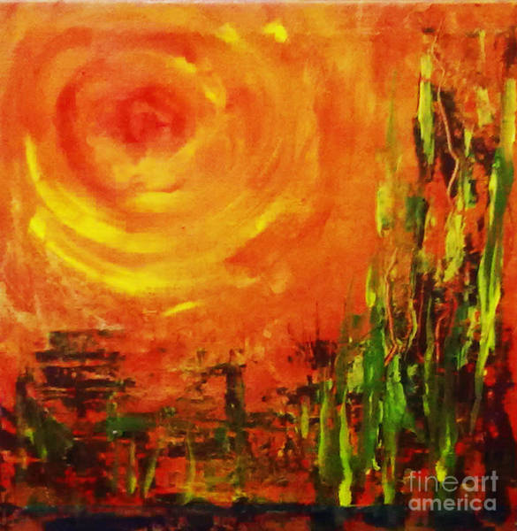 Painting - The Sun At The End Of The World by Asha Sudhaker Shenoy