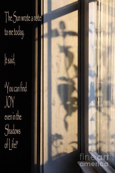 The Sun Wrote A Note Art Print