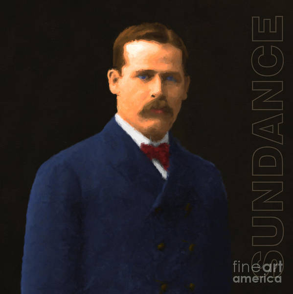 Gunslinger Photograph - The Sundance Kid Harry Longabaugh 20131012 Square With Text by Wingsdomain Art and Photography