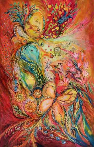 Wall Art - Painting - The Sunrise In Orange Garden by Elena Kotliarker