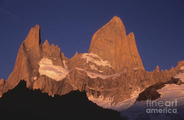 Photograph - The Sunrise Of Fire Mt Fitzroy by James Brunker