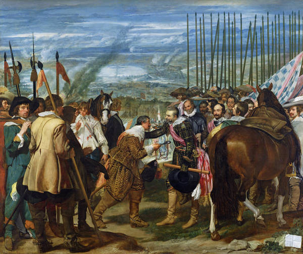 Siege Photograph - The Surrender Of Breda, 1625, C.1635 Oil On Canvas See Also 68345 by Diego Rodriguez de Silva y Velazquez