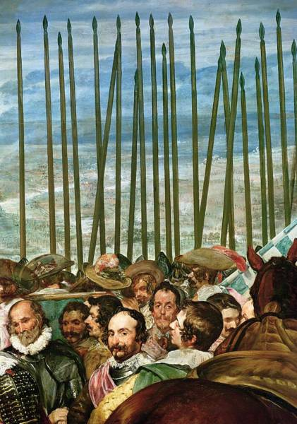 Siege Photograph - The Surrender Of Breda, 1625, Detail Of Soldiers With Lances, C.1635 Oil On Canvas See Also 30730 by Diego Rodriguez de Silva y Velazquez