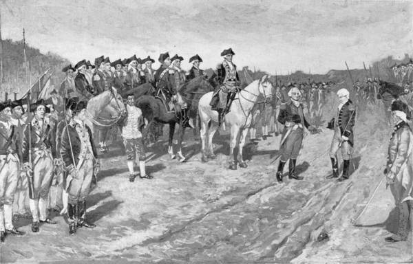 Brandywine Wall Art - Photograph - The Surrender Of Cornwallis At Yorktown, Illustration From The Surrender Of Cornwallis, Pub by Howard Pyle