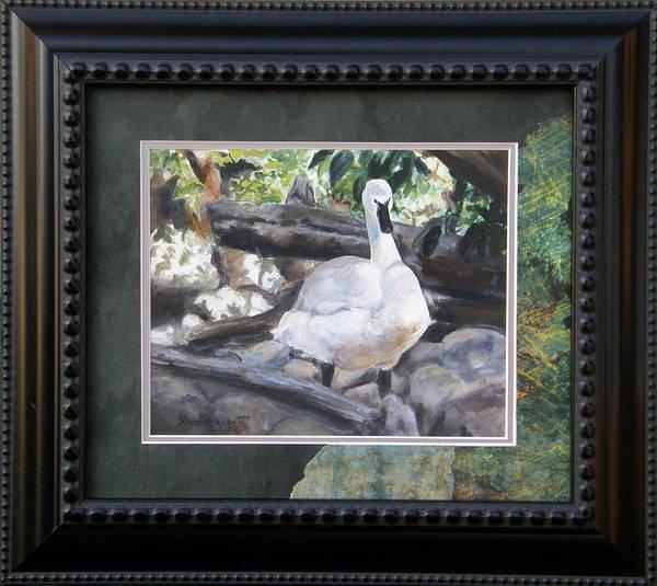 Painting - The Swan Framed by Lori Brackett
