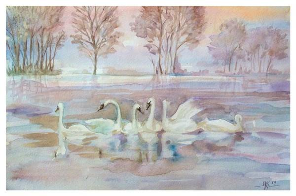 The Swan Lake Art Print