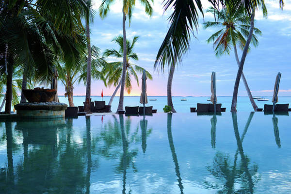 Big Island Photograph - The Swimming Pool Of Summer Resort by Phototalk