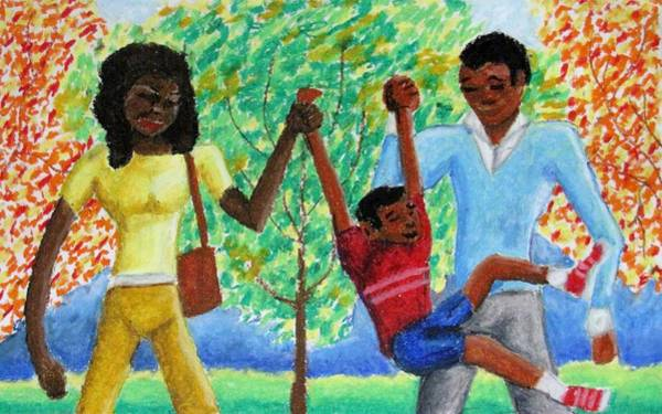 Wall Art - Drawing - The Swing Set by William Bryant
