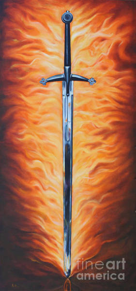 Wall Art - Painting - The Sword Of The Spirit by Ilse Kleyn