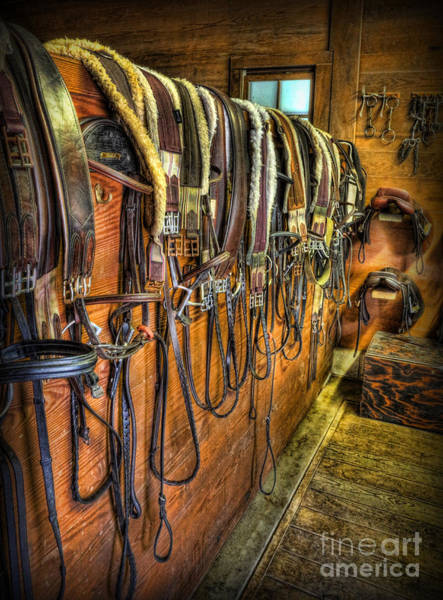 Wall Art - Photograph - The Tack Room - Equestrian by Lee Dos Santos
